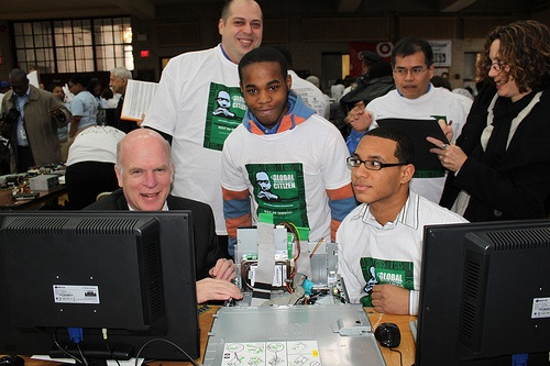 Tom Power with youth