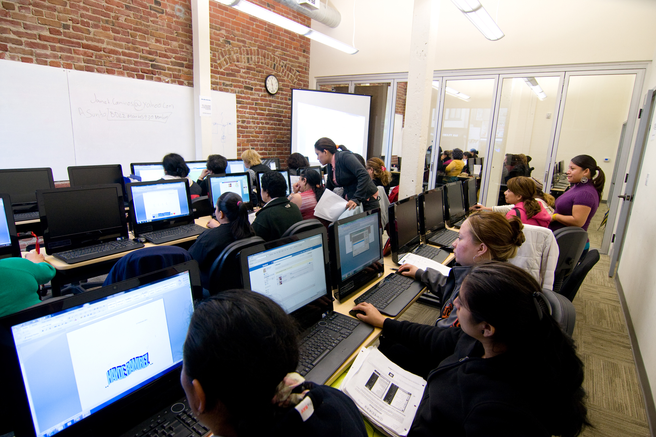 Students Attend One Of MEDAs Digital Literacy Classes