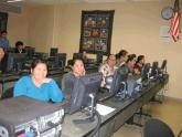 Students participate in a digital literacy class