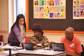 Students attend one of the City of Chicago's digital literacy classes