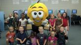 Peachy visits an elementary school in Ware County, Ga.
