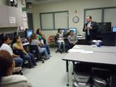 MIGH President and Executive Director, Carlos J. López, visited with students on