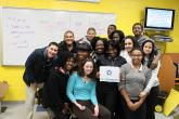 IMG: A group of students from the Digital Connector program in Trenton, N.J.