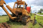 Sho-Me MO project contractors begin plowing fiber conduit along a rural highway