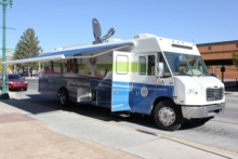 El Paso's mobile lab, housed in a converted mobile home.