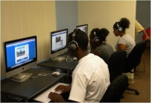 Photo: Housing Authority of San Bernardino Students Using Computers